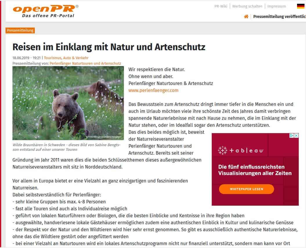 Reisen im Einklang mit Natur und Artenschutz