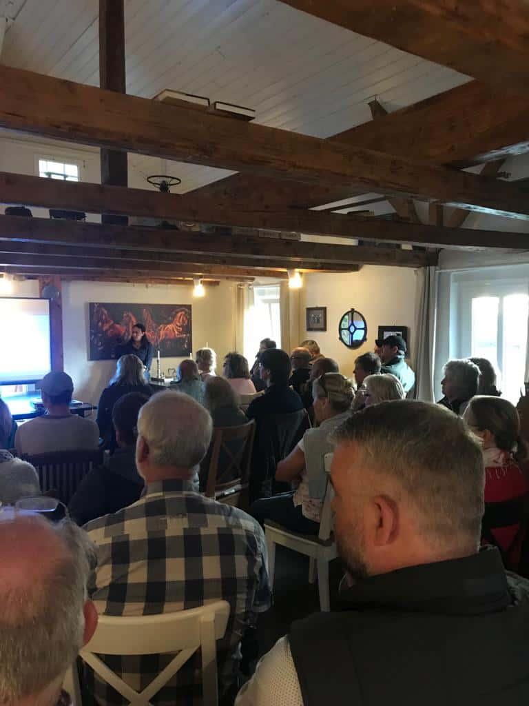"Infoabend auf dem Hof Rehedyk ""Wölfe in Schleswig-Holstein"", 12.10.2018"